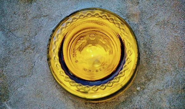 Photograph - Round Yellow Glass Bottom by Cynthia Guinn