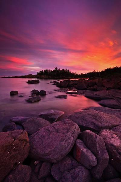 Lake Superior Photograph - Roundabout Sunset by Image By Jeff Jacobson