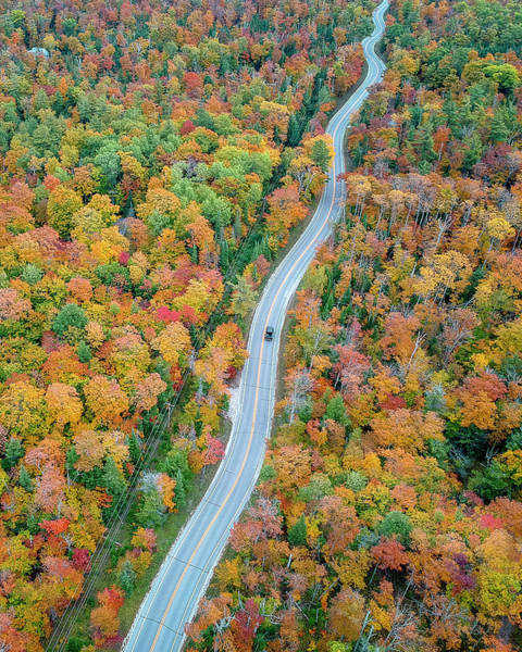 Photograph - Route 42 Aerial Vertical by Adam Romanowicz