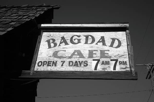 Photograph - Route 66 - Bagdad Cafe 2012 Bw #3 by Frank Romeo
