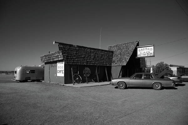 Photograph - Route 66 - Bagdad Cafe 2012 Bw by Frank Romeo