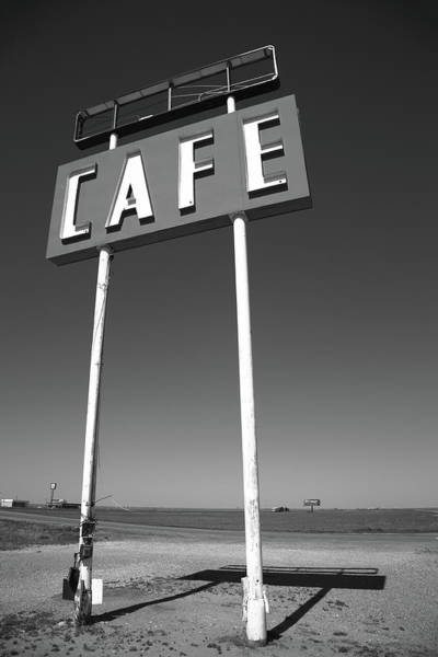 Photograph - Route 66 Cafe 2012 Bw by Frank Romeo