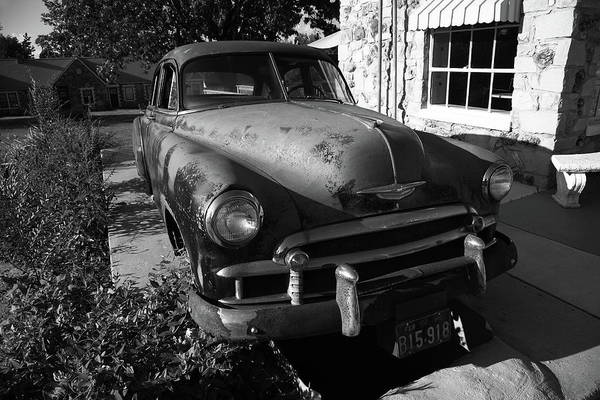 Photograph - Route 66 Classic Car 2012 Bw #3 by Frank Romeo
