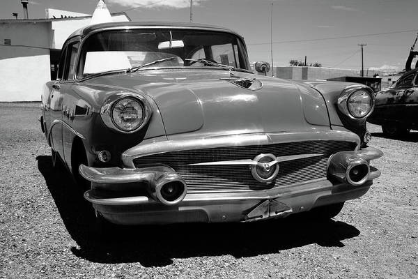Photograph - Route 66 Classic Car 2012 Bw by Frank Romeo