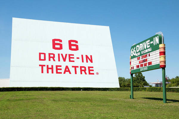 Photograph - Route 66 Drive In by Steve Stuller
