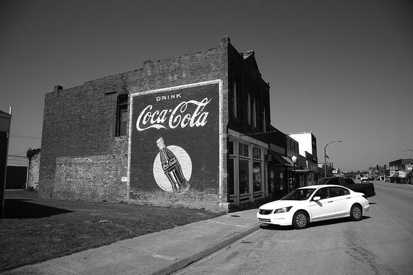 Photograph - Route 66 - Ghost Mural 2012 Bw by Frank Romeo