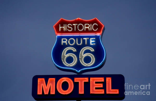Photograph - Route 66 Motel by Carol Highsmith