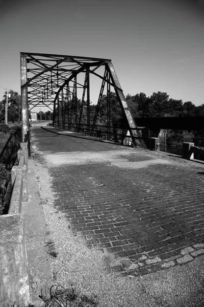 Photograph - Route 66 - One Lane Bridge 2012 Bw by Frank Romeo