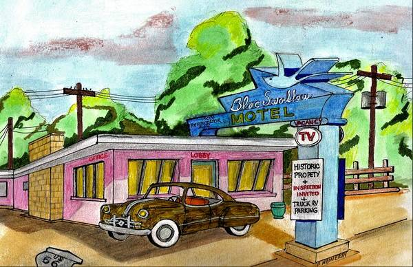 Wall Art - Drawing - Route 66 by Paul Meinerth