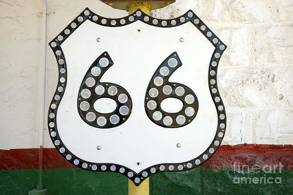 Photograph - Route 66 Sign, 2006 by Carol Highsmith