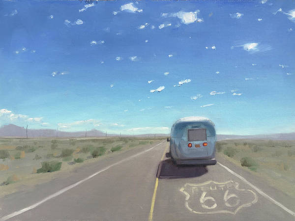 Route 66, Somewhere In California Art Print