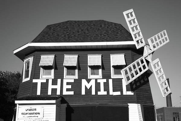 Photograph - Route 66 - The Mill 2012 Bw by Frank Romeo