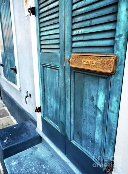 Photograph - Row House Mail In New Orleans by John Rizzuto