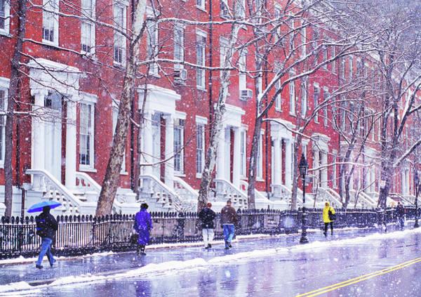 Washington Square Park Photograph - Row Houses On Washington Square by Mitchell Funk