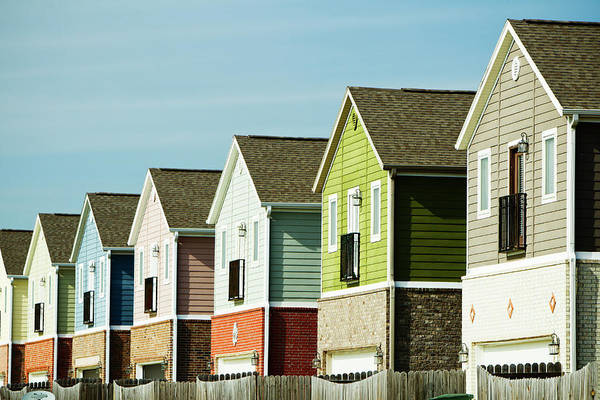 Fayetteville Photograph - Row Of Colorful Homes by Wesley Hitt