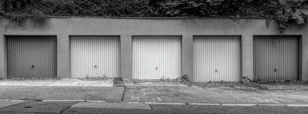 Wall Art - Photograph - Row Of Garages, Germany by Panoramic Images