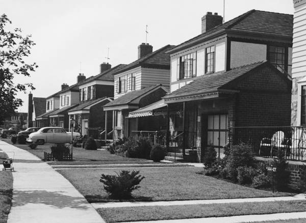 Suburbs Photograph - Row Of Houses by George Marks