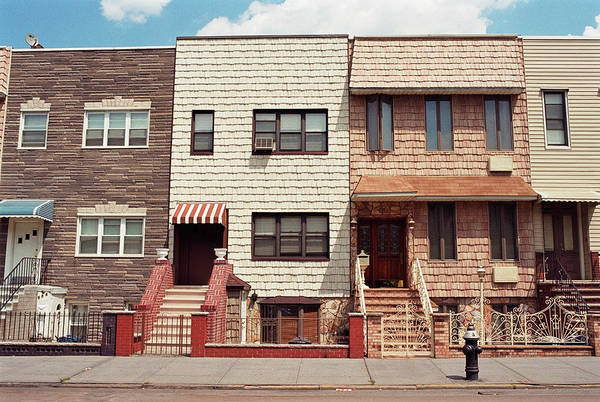 Fire House Photograph - Row Of Houses, Greenpoint, Brooklyn by Brian Kennedy