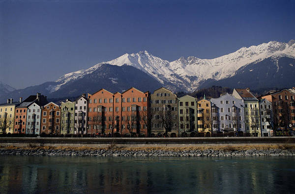 Wall Art - Photograph - Row Of Houses In Innsbruck, Austria by Neil Beer