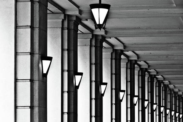 Repetition Photograph - Row Of Lamps by Jeremy Vickers Photography