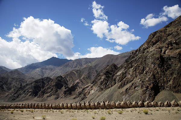 Asia Photograph - Row Of Mud Chortens Or Stupas In The by Asia Images