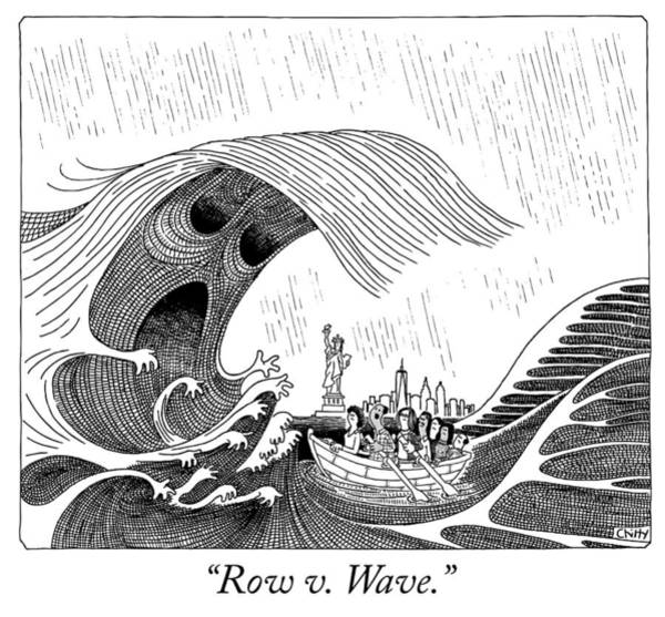 Drawing - Row V Wave by Tom Chitty