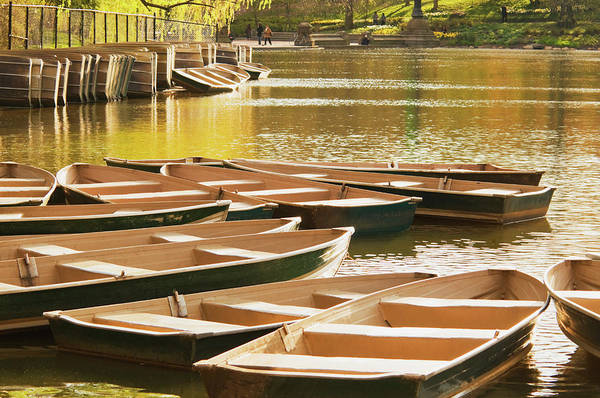 Rowboat Photograph - Rowboat In Central Park by Mitchell Funk