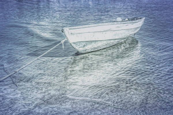 Photograph - Rowboat In Cool Grays by Debra and Dave Vanderlaan
