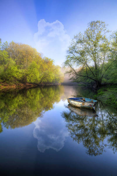 Photograph - Rowboat On A Misty Morning by Debra and Dave Vanderlaan