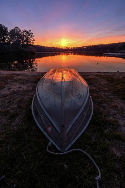 Cachalot Wall Art - Photograph - Rowboat Sunset by Dennis Wilkinson