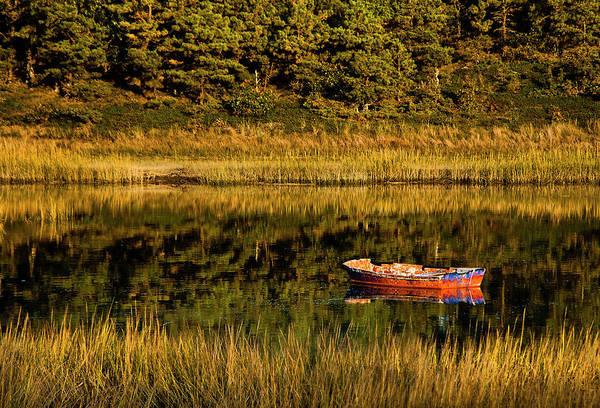 New England Autumn Photograph - Rowboat, Wellfleet, Cape Cod by John Greim