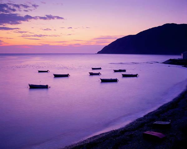 Rowboat Photograph - Rowboats At Dawn, Anse-pleureuse by Yves Marcoux