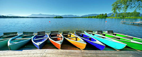 Rowboat Photograph - Rowboats At Lake Staffelsee, Uffing by Florian Werner / Look-foto