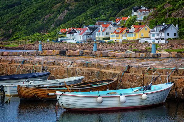 Photograph - Rowboats At The Harbor Village by Debra and Dave Vanderlaan