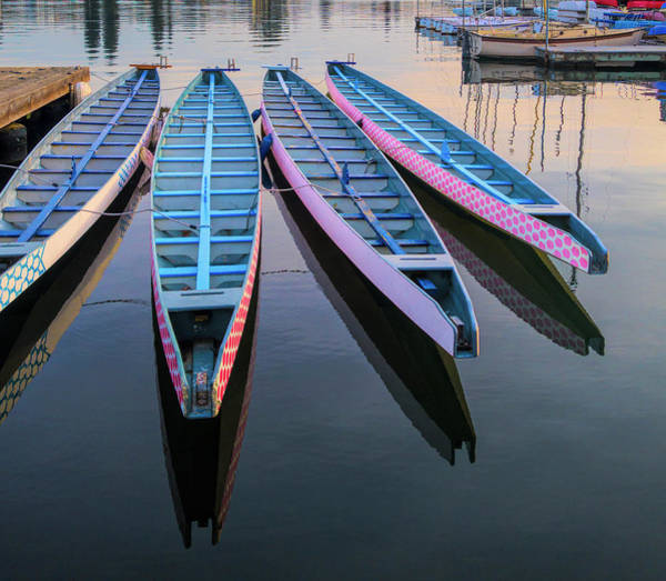 Wall Art - Photograph - Rowboats Moored At Lake Merritt by Panoramic Images