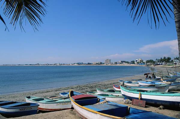 Rowboat Photograph - Rowboats On Beach In Mazatlan by Adalberto Rios Szalay/sexto Sol