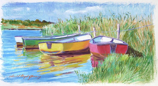 Painting - Rowboats Plein Air by David Lloyd Glover
