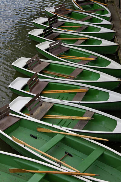 Rowboat Photograph - Rowboats Waiting For Passengers by Janzgrossetkino