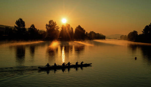 Wall Art - Photograph - Rowers In The Morning by Detlef Klahm