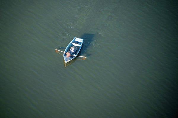 Oar Photograph - Rowing Boat On Lake Chivero, Near by Christopher Scott