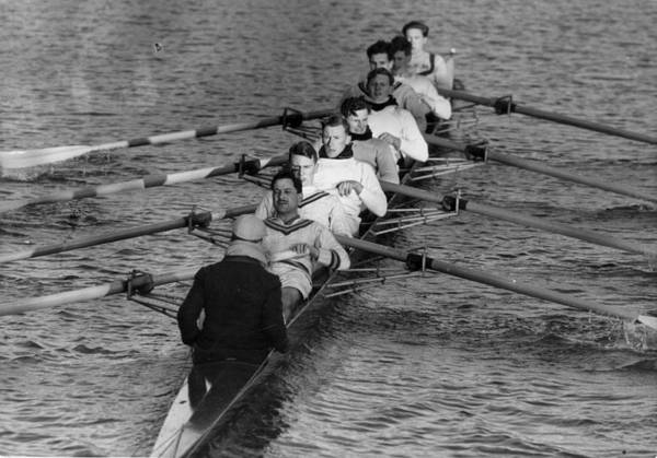 Sport Photography Photograph - Rowing Eight by Bert Hardy