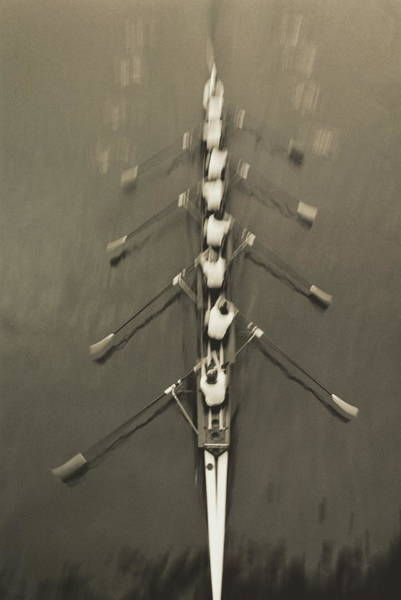 Rowing Wall Art - Photograph - Rowing Eight by Romilly Lockyer