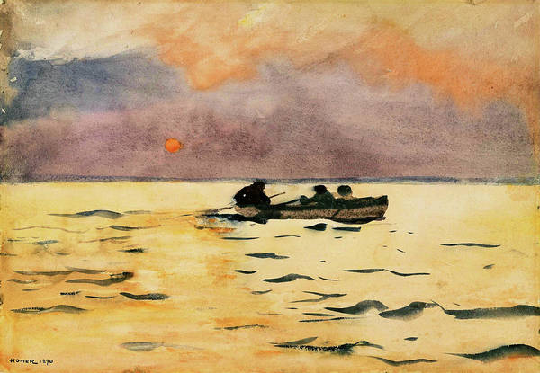 Wall Art - Painting - Rowing Home - Digital Remastered Edition by Winslow Homer