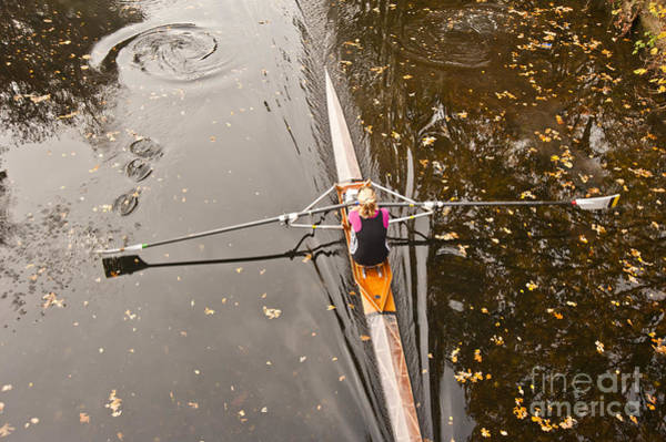 Image Wall Art - Photograph - Rowing In Autumn by Raevas