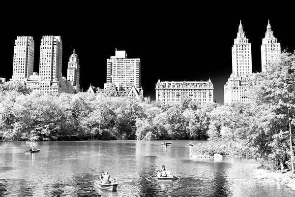 Rowing In Central Park New York City Art Print