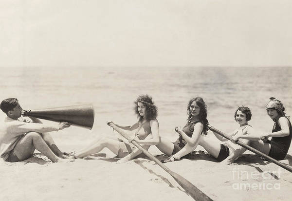 Caucasian Wall Art - Photograph - Rowing Lesson by Everett Collection