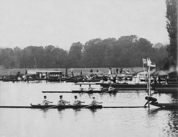 Rowing Wall Art - Photograph - Rowing Regatta by Henry Guttmann Collection