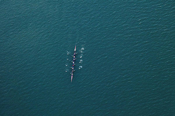 Competitive Sport Photograph - Rowing Scull Boat On Colorado River by Dszc