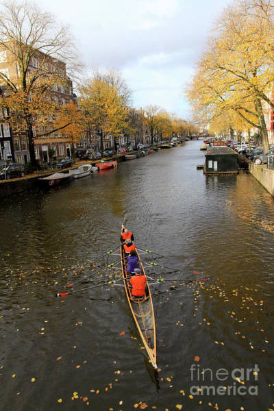Photograph - Rowing The Canals by Paula Guttilla