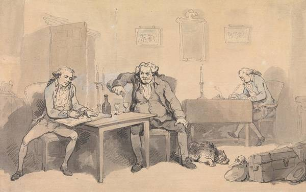 Drawing - Rowlandson And Wigstead On Tour by Thomas Rowlandson